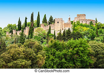 Castle of Tomar - The Castle of Tomar, Tomar city in...