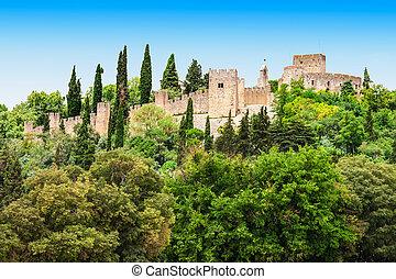 Castle of Tomar - The Castle of Tomar, Tomar city in...