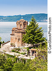St John Church - Saint John Monastery in old town, Ohrid,...
