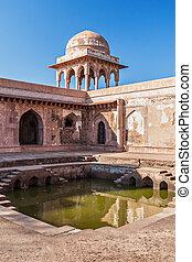 Baz Bahadur Palace in Mandu, Madhya Pradesh, India