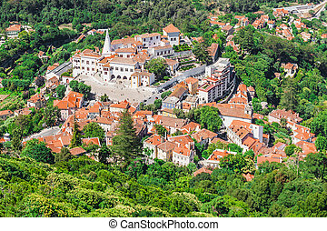 Sintra National Palace - The Sintra National Palace in...