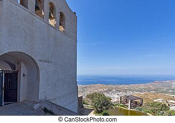 Monastery Prophet Elias, Santorini - Entrance of Monastery...