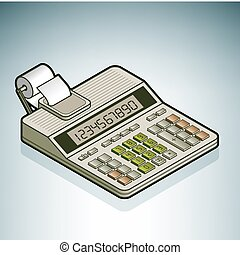 Office Calculator (part of the Modern Furniture Isometric 3D...