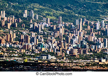 Aerial view of Medellin