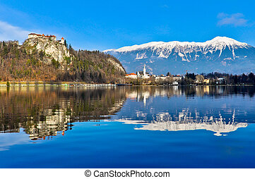 Lake Bled - Beautiful Landscape around Lake Bled in Slovenia