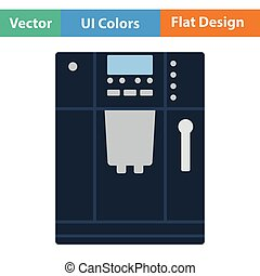 Kitchen coffee machine icon Flat design Vector illustration...