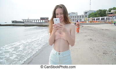 Woman on holidays taking a picture to herself