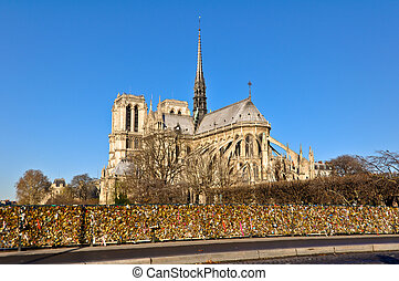 Notre Dame - The Cathedral of Notre Dame in Paris, France