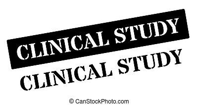 Clinical Study black rubber stamp on white Print, impress,...