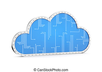 Cloud technology computing. Your data in safety