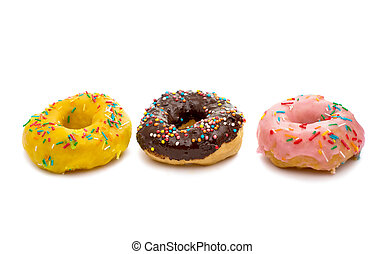 donut glaze on a white background