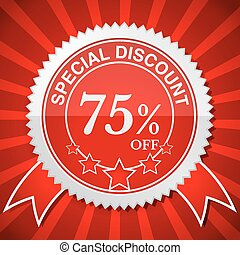 Special Discount 75% Off. - illustration. Eps 10