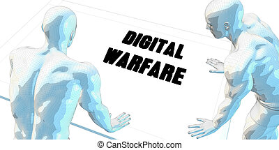 Digital Warfare Discussion and Business Meeting Concept Art