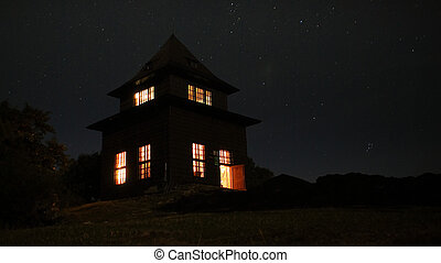 Outlook-tower at night