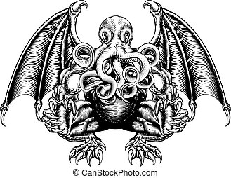 Cthulhu Monster - An original illustration of a Cthulhu...