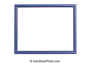 Blue frame isolated on white background with clipping path