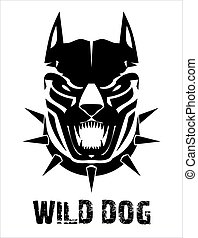 Pitbull Doberman Boxer Wild dog Black wild dog Stylized...