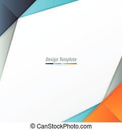 Template Design Orange, blue, gray - Template Design Orange,...