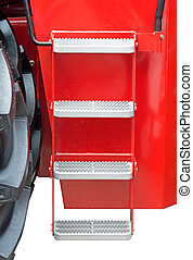 steps in the tractor cab - metal steps in the tractor cab on...