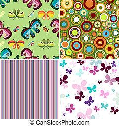 Set seamless patterns