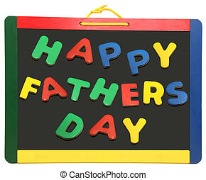 Happy Fathers Day On Chalkboard - Happy fathers day spelled...
