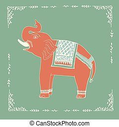 Elephant illustration in vector.