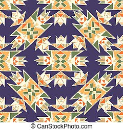 Tribal hand drawn native american pattern in vector. Used...