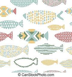 Fish seamless pattern