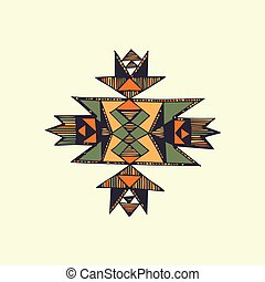 Hand draen native american symbol in vector. - Hand drawn...