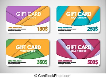 Set of gift cards