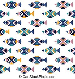 Fish pattern seamless in vector.