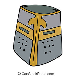 Medieval helmet.
