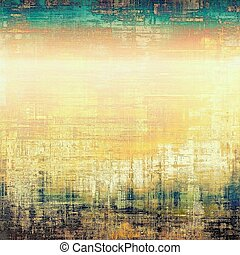 Retro design on grunge background or aged faded texture With...