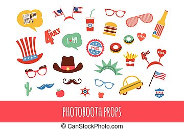 costume props for independence day of America. themed photo...