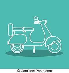 scooter style design, vector illustration eps10 graphic