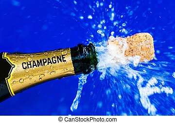 corks and champagne bottle