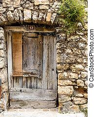 old door made of wood