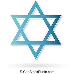 Star of David, judaism symbol. Vector design