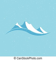 White Mountains logo vintage style Vector graphic design