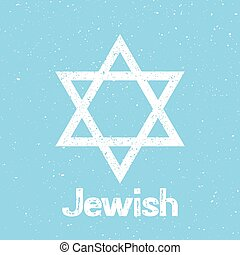 Star of David logo.Vector graphic design