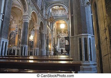 Inside Altamura Cathedral.