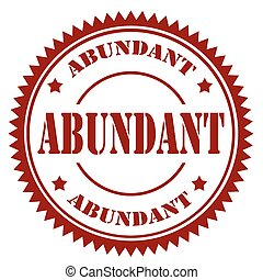 Abundant-red stamp - Red stamp with text Abundant,vector...