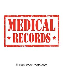 Medical Records-stamp - Grunge rubber stamp with text...