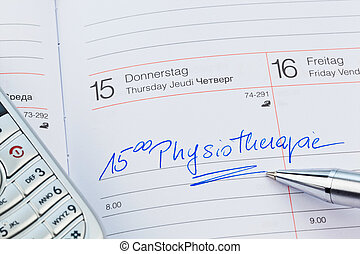 entry to the calendar: physiotherapy - an appointment is...