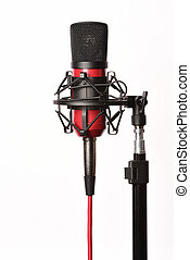 Professional studio condenser microphone with cord