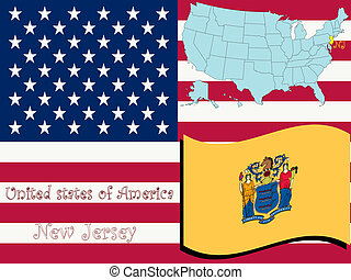 new jersey state illustration, abstract art