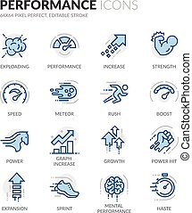 Line Performance Icons - Simple Set of Performance Related...