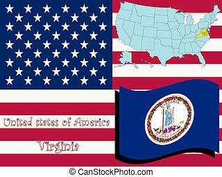 virginia state illustration, abstract art