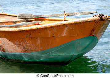 rowboat - old rusty rowboat