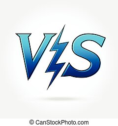 Versus Vector Icon - Versus letters or vs logo isolated ....